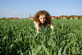 Free Curly Girl On Nature Royalty Free Stock Images - 20720709