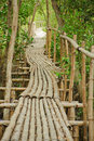 Free Bamboo Walkway In Mangrove Forest Royalty Free Stock Photos - 20721208