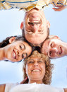 Free Beautiful Family. Heads Together Royalty Free Stock Photos - 20725398