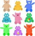 Free Set Cute Cartoon Animals Wallpaper Royalty Free Stock Photo - 20727475