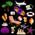 Free Beach Icons Stock Photos - 20729643