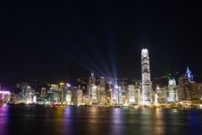 Hong Kong Symphony Lights Stock Image