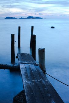 Free Wooden Pier And Sea In Long Exposure Stock Photo - 20720130