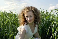 Free Curly Girl On Nature Royalty Free Stock Photo - 20720685