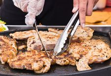 Grilled Steaks Royalty Free Stock Photography