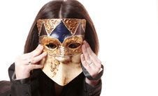 Free Venetian Mask Royalty Free Stock Photography - 20721137