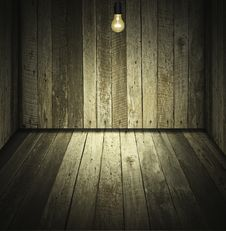 Free Wooden Room Royalty Free Stock Photography - 20721297