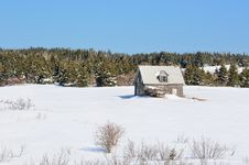 Free Winter Abandoned House Royalty Free Stock Image - 20721646