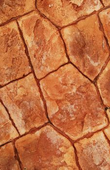 Free Pavement Made From Red Stone Plates Royalty Free Stock Images - 20722169