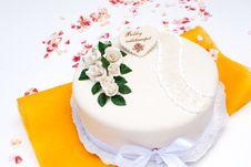 Free Marzipan Birthday Cake Stock Photo - 20722340