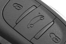 Close Up Of A Remote Control Buttons On A Car Key Royalty Free Stock Photo