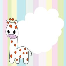 Free Colorful Background With Giraffe Royalty Free Stock Photography - 20723247