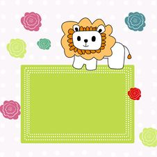 Background With Lion Stock Photography