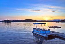 Sunset At Birch Island Stock Photo