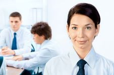 Businessteam And A Leader Stock Images