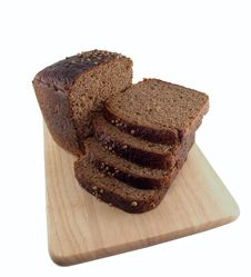 Free Bread Slices Wooden Cutting Board Royalty Free Stock Image - 20724366
