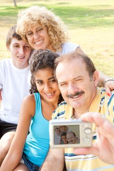 Free Happy Family Taking Self Portrait Stock Photo - 20725260