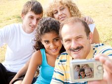 Free Attractive Family Pose For A Self Portrait Royalty Free Stock Photo - 20725265
