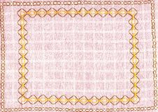 Free Handmade Embroidery Placemat Stock Images - 20725434