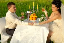 Free Wedding Dinner On The Field Royalty Free Stock Images - 20725549