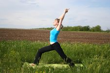 Free Young Woman Doing Yoga Outdoors Stock Photography - 20725672