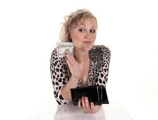 Free Woman With Cash Royalty Free Stock Image - 20725866