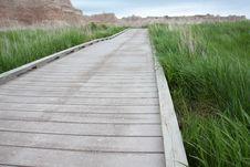 Free Boardwalk Through A Grassy Field Royalty Free Stock Image - 20725936