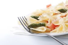 Free Farfalle, Tomato And Asparagus Salad Royalty Free Stock Photo - 20726135