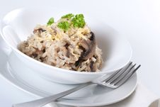 Mushroom Risotto Stock Photo