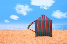 Free Colored Hut On A Deserted Beach Stock Images - 20726994