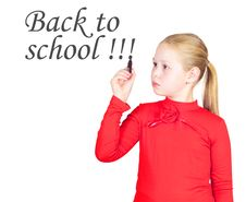 Free Schoolgirl With Black Marker In Hand Royalty Free Stock Photo - 20727685