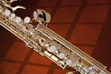 Free Soprano Saxophone Isolated Against Gold Stock Photos - 20728433