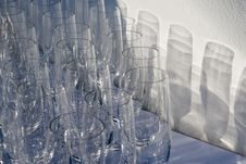 Free Empty Wine Glases Stock Images - 20728654