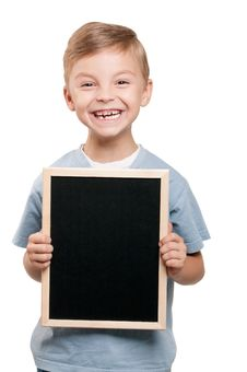 Free Boy With Blackboard Stock Photography - 20729222