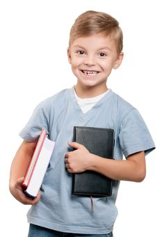 Free Boy With Book Stock Photo - 20729250