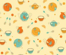 Free Tea_Pattern Stock Photo - 20729600
