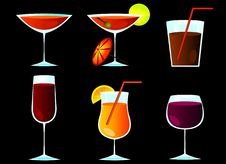 Free Cocktail Glasses Stock Image - 20729651