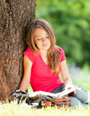 Free Happy Student Girl Reading Book Royalty Free Stock Images - 20733979