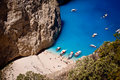Free Navagio Beach On Zakynthos Royalty Free Stock Image - 20735826