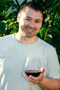 Free Handsome Man Drinking Wine Outdoor Royalty Free Stock Photography - 20738467