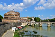 Free Castle Sant Angelo In Rome Royalty Free Stock Images - 20731299