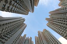 Hong Kong Housing Estate Stock Photo