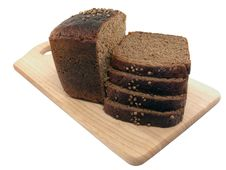 Free Bread Slices Wooden Cutting Board Royalty Free Stock Image - 20732716