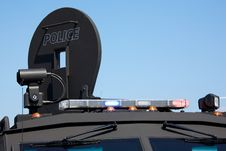Free Lights On An Armoured Police Vehicle Royalty Free Stock Photos - 20732988