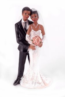 Free African American Wedding Cake Figurine Royalty Free Stock Photography - 20733047