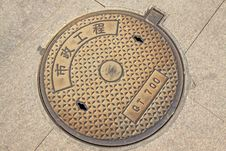 City Manhole Covers Stock Image