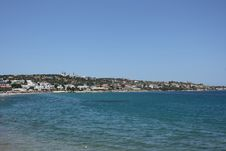 Beach In Hersonissos Royalty Free Stock Image