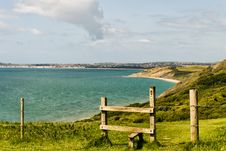 Wooden Stile On The Dorset Coast Path