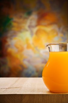 Free Jug Of The Oranges Juice Royalty Free Stock Photo - 20734125
