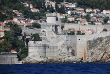 Free Dubrovnik Old City Defense Walls Stock Photo - 20734250